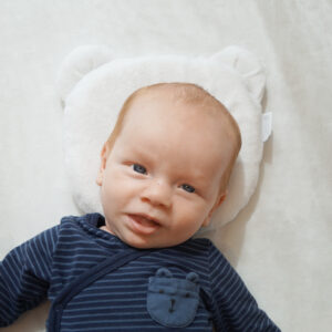 Candide Panda Babykudde Vit