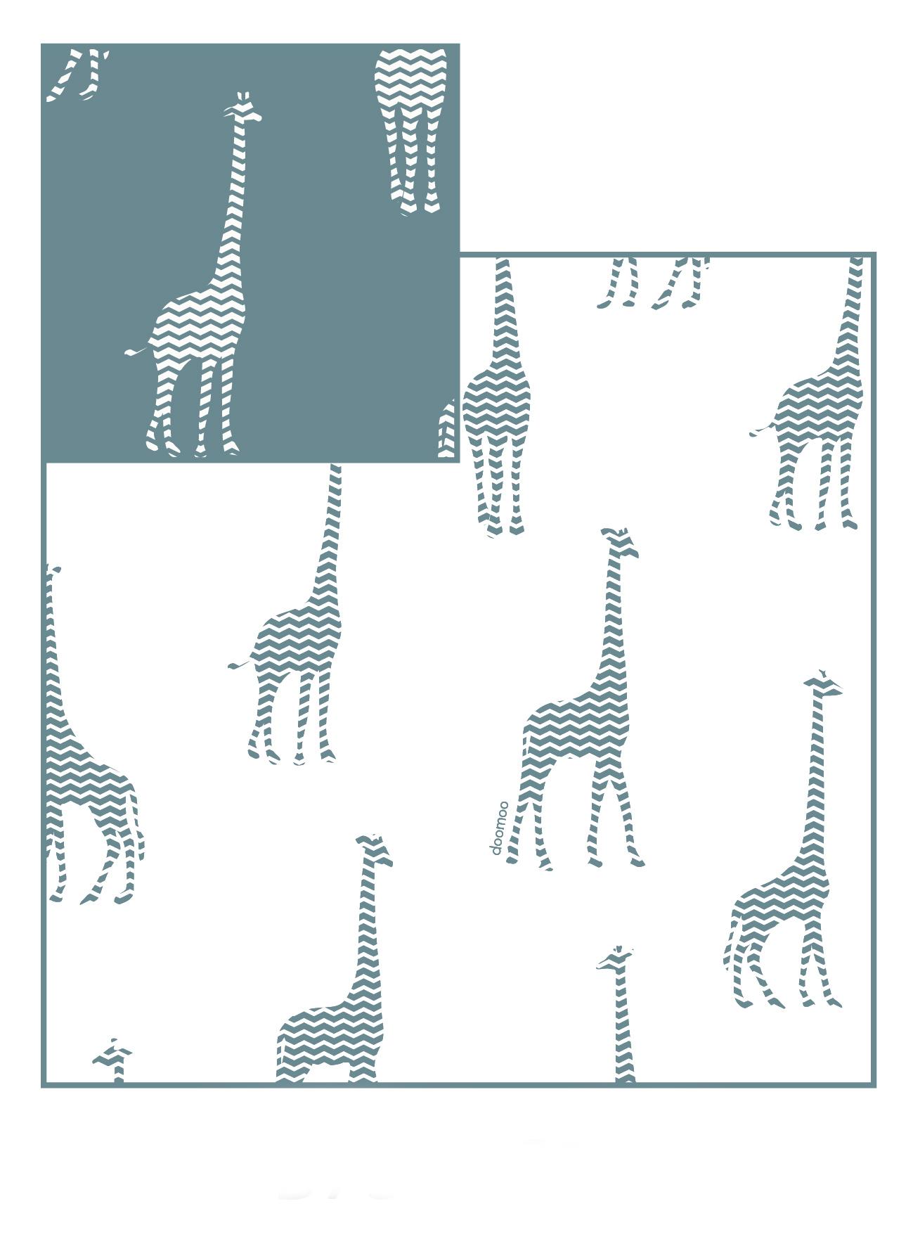 Doomoo Överdrag till Amningskudde Amnings och gravidkudde Giraff Grå 1