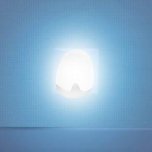 Pabobo Automatisk Nattlampa Vit 4